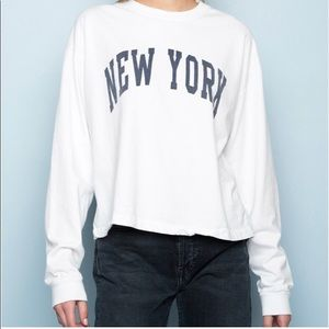 Brandy Melville graphic New York long sleeve